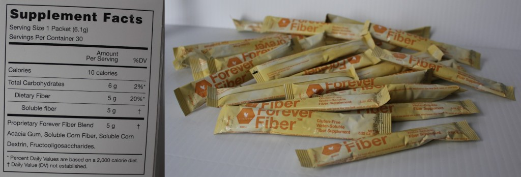 Nutritional Facts -  Forever Fiber Supplement